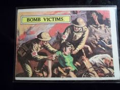 1965 Topps Battle Cards #50 Bomb Victims