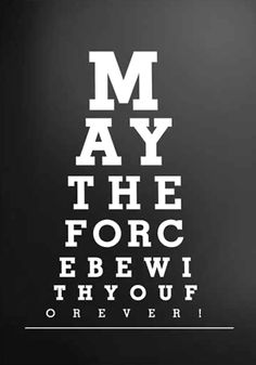 Eye Chart: Star Wars, May The Force Be With You