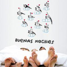 Buenas noches, dormilones! ;) Vinilos decorativos para niños Chispum.