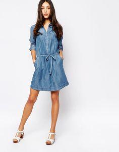 denim shirt dress -shown- Oasis