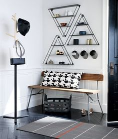 A-frame shelves from CB2