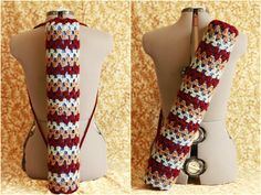 Crocheted yoga mat bag with two straps.