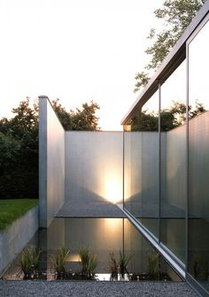 Small pool  with patio. Notaris Huys by Govaert & Vanhoutte architects. Photo by Martine Neirynck.