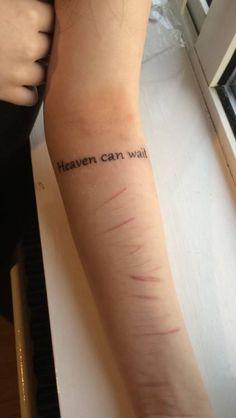 Self harm tattoos