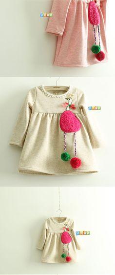 Aliexpress.com: Comprar 2013 de otoño e invierno las niñas ropa de bebé niño de terciopelo qz 1102 vestido de una sola pieza de vestidos para niñas talla 8 confiables proveedores de Missing You.