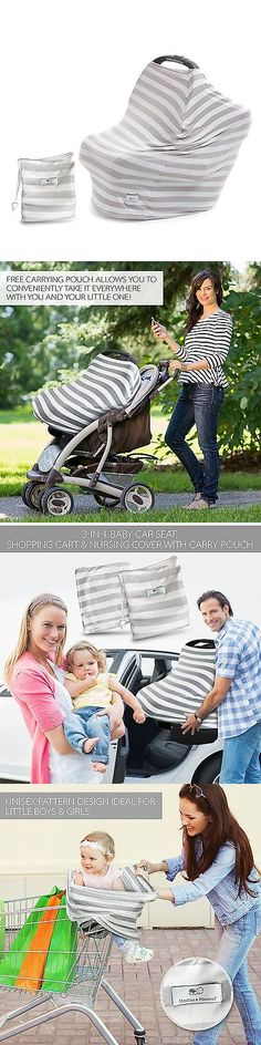 baby and kid stuff: Munchkins And Milestones 3-In-1 Baby Car Seat Shopping Cart Nursing Newborn Cover BUY IT NOW ONLY: $63.1