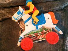 Chicco Jockey Toy Vintage Horse and Jockey 1960s by PoppiesHouse