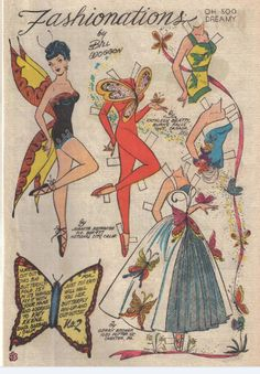 Miss Missy Paper Dolls: ballet Name: Katy Keene Date: various  Publisher: Artist:Bill Woggon Format:4 magazine pages Condition: uncut internet photos