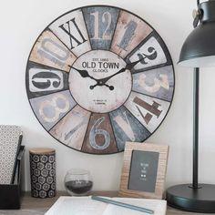 Home collection 2018 Old Town Clock, Old Clocks, Farmhouse Clocks, Wall Clock Design, Diy Clock, Wood Headboard, Wooden Clock, Tea Party, Decoupage