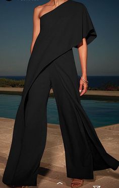 Product Sexy single shoulder pure color high-waisted wide-legged jumpsuit Brand Name Eyekingdom Gender Women Style Elegant/Sexy/Fashion Type Jumpsuits Material Polyester Decoration Pure Color Jumpsuit Denim, Pink Jumpsuit, Black Jumpsuit Outfit, Casual Jumpsuit, Women's Dresses, Fashion Dresses, Dresses Online, Blue Jumpsuits, Fashion Jumpsuits