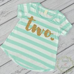 Second Birthday Outfit Girl Gold Glitter Two Year Old Girl Second Birthday Shirt…