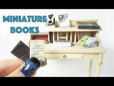How To Make Miniature Books - YouTube