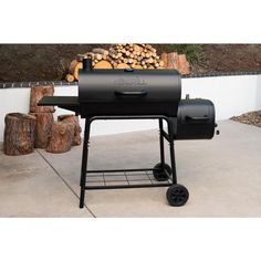 Grill Smoker Combo Charcoal Wood Offset Barrel BBQ Professional Outdoor Cooker - Smokers - Ideas of Smokers Charcoal Grill Smoker, Offset Smoker, Electric Meat Smokers, Barrel Bbq, Wood Smokers, Traeger Smoker, Best Smoker, Outdoor Cooking, Grilling
