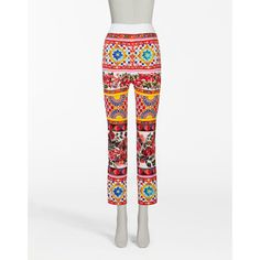 Dolce & Gabbana Printed Charmeuse Silk Leggings (64,515 INR) ❤ liked on Polyvore featuring pants, leggings, mambo print, legging pants, silk leggings, silk print pants, patterned trousers and dolce gabbana trousers