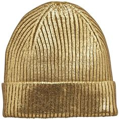 V By Very Metallic Beanie Hat (€5,88) ❤ liked on Polyvore featuring accessories, hats, beanies, gold, headwear, pointy hat, metallic hat, beanie cap hat, beanie caps and beanie hat