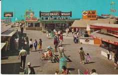 """Fisherman's Wharf Restaurants The Pier Redondo Beach California"" Postcard   eBay"