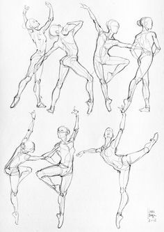 How to Draw the Human Body - Study: Dance Body Positions for Comic / Manga…