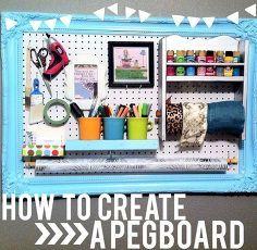 diy pegboard organization, craft rooms, organizing