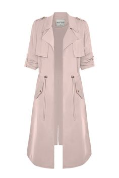 Long Pink Trench Coat TALLY WEiJL