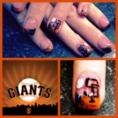 SF GIANTS NAILS!