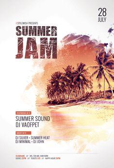 Summer Jam Flyer Template (Buy PSD file $9)