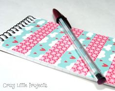 Tutorial   Washi Tape Notebook & Pen Set by Amber at Crazy Little Projects · Scrapbooking   CraftGossip.com