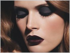 black lips, gothic makeup
