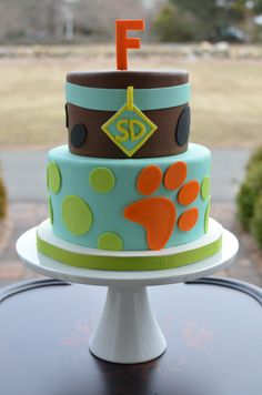 - Scooby Doo birthday cake. This is not an original design but I loved it so much I had to make it when I was asked to make a cake for a Scooby-Doo themed party.