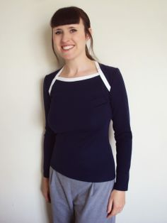 Zoe's contrast Bronte Top - I've made a short sleeved one like this since I loved hers so much!!