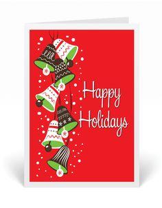 retro mid century modern holiday card retro eames 1950s christmas cards - Modern Christmas Cards