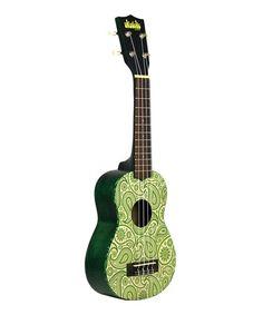 Green Paisley Ukadelic Soprano Ukulele