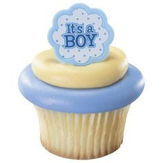 Its a boy rings baby cupcake picks toppers by Baby Cupcake, Baby Shower Cupcake Toppers, Baby Shower Cakes For Boys, Cupcake Picks, Boy Baby Shower Themes, Cupcake Party, Baby Boy Shower, Baby Shower Decorations, Cupcake Cakes