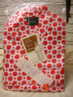 Vintage 1974 Men's Kimono Robe Red and White Polka Dots New In Package #Towncraft #Robes