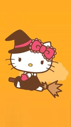 Witch_Kitty 在 We Heart It 的Hello Kitty Halloween🎃🍭🍬🍬 Hello Kitty Art, Hello Kitty Themes, Sanrio Hello Kitty, Kitty Kitty, Hello Kitty Imagenes, Hello Kitty Halloween, Sanrio Danshi, Hello Kitty Pictures, Kitty Images