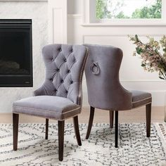 Our Best Dining Room & Bar Furniture Deals Tufted Dining Chairs, Dining Chair Set, Wingback Chairs, Lounge Chairs, Club Chairs, Dining Room Bar, Dining Room Design, Dining Table, Kitchen Dining