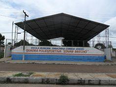 Quadra Poliesportiva Edvar Brechô - Escola Municipal Sinhazinha Correia - Anexo - Bairro Santinho - Barras - Piauí