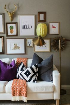 Inexpensive Gallery Wall Ideas