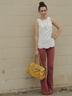 Kacie's Kloset- oh my gosh that shell top is cuuuuuuute. Again with the colored flare jeans! The rack has a j-brand pair in teal, but 28s are too big and 27s too small. Gah.
