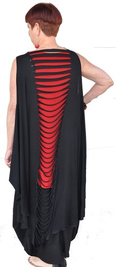 Slit front and back shawl which can be worn several ways!