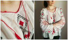 Ie romaneasca (300 LEI la Caterine.breslo.ro) Peasant Blouse, Traditional, Romania, Etsy, Shop, Style, Store