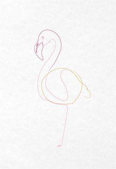 Curioos.com   one-line-flamingo by quibe (France) - http://pinterest.com/curioos