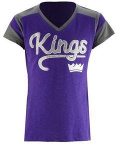 5th & Ocean Sacramento Kings Contrast Slub T-Shirt, Girls (4-16) - Purple XS