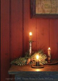 The Glow of Christmas primitive greeting card