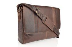 Woodland Leather Burnished Leather Landscape Messenger Bag. Multiple compartments, suitable for business or university. Large compartments, zippered, adjustable shoulder strap. thegiftboxformen.com
