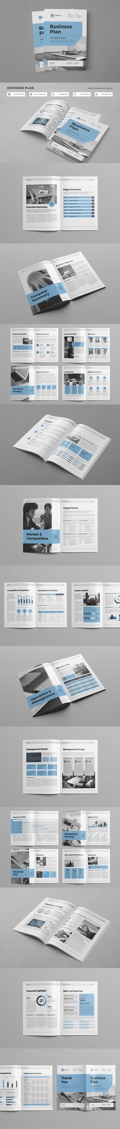 Clean & Professional Complete Business Plan Brochure Template INDD With Include A4 & US Letter Size