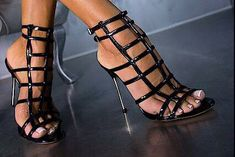 Sexy Strappy Sandals Heels, Sexy Heels, Stiletto Heels, Stilettos, Very High Heels, Black High Heels, Me Too Shoes, High Platform Shoes, Shoes