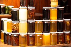 Why are there different types of honey in jars out there? What makes honey creamed vs raw vs manuka, etc. We explore 10 types of honey and how to use them. Manuka Honey, Raw Honey, Types Of Honey, Bee Farm, Wildflower Seeds, Natural Energy, Beekeeping, Tea Tree, Honeycomb