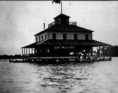 "Izzer House Social Club on Lake Lansing, Haslett, MI  - love the ""Beat Michigan"" sign!"