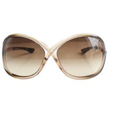 Tom Ford Whitney sunglasses in gold ❤ liked on Polyvore