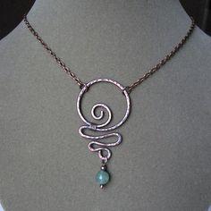 Copper & aventurine necklace.